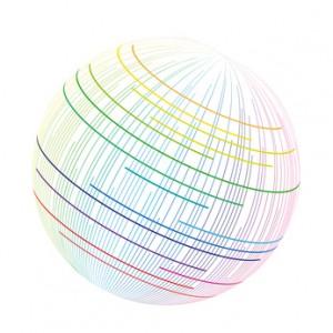 sphère colorée