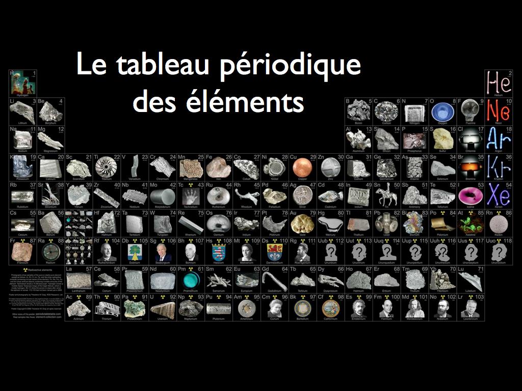 Histoires d l ments chimie en pcsi for L tableau periodique