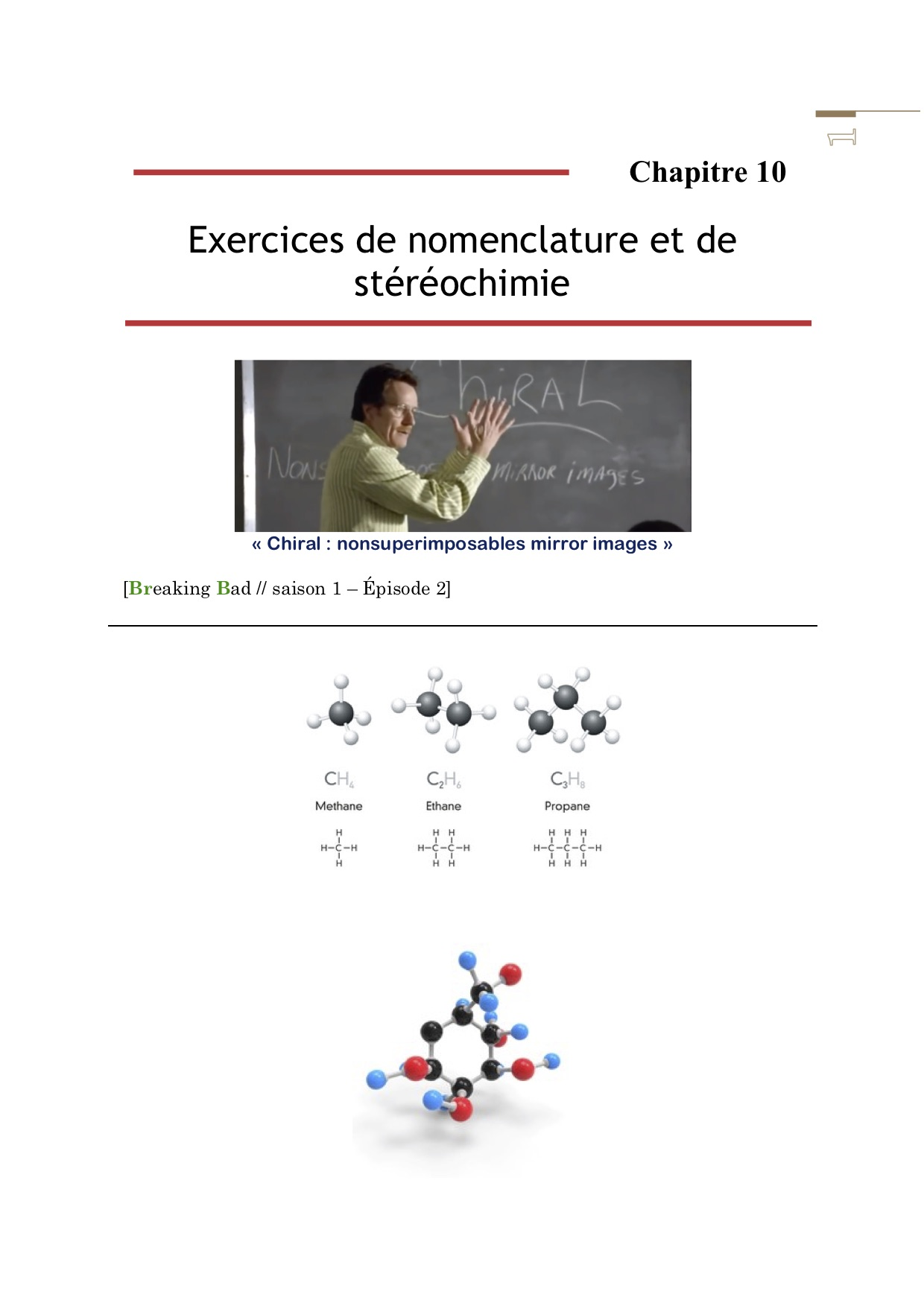 ExercicesStereochimiecouverture