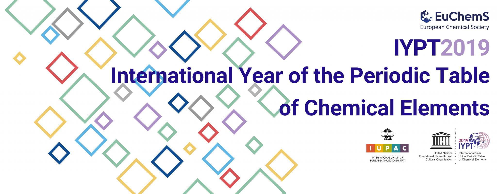 2019, Année internationale du Tableau Périodique : visitez le site de EuChemS